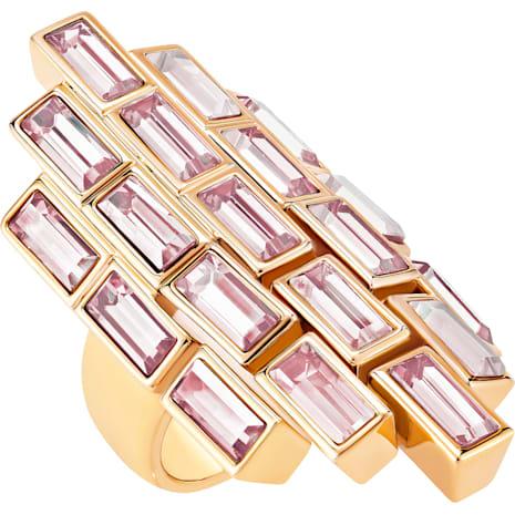 Fluid Cocktail Ring, Violet, Rose-gold tone plated - Swarovski, 5512015