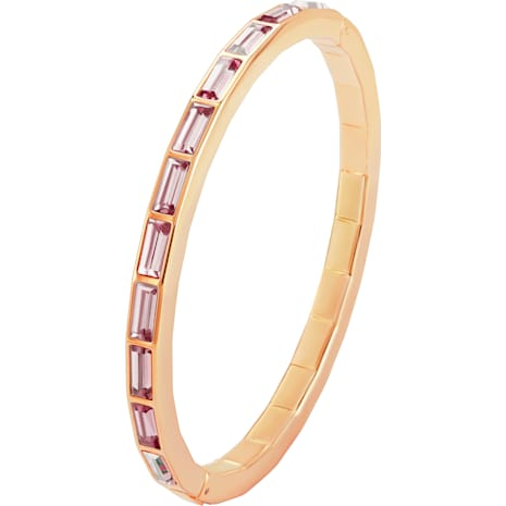 Fluid Bangle, Violet, Rose-gold tone plated - Swarovski, 5512018