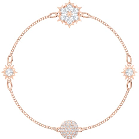 Swarovski Remix Collection Snowflake Strand, White, Rose-gold tone plated - Swarovski, 5512038
