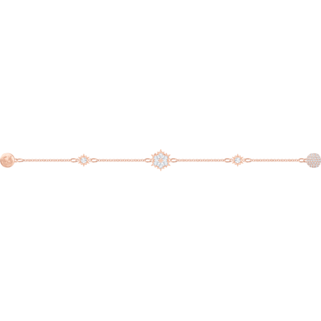 Swarovski Remix Collection Snowflake Strand, blanc, Métal doré rose - Swarovski, 5512038
