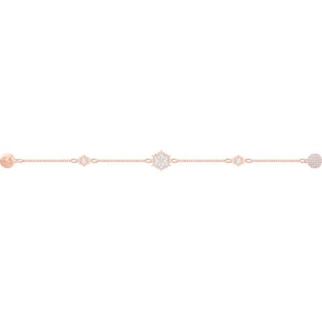 Swarovski Remix Collection Snowflake Strand, White, Rose-gold tone plated - Swarovski, 5512038