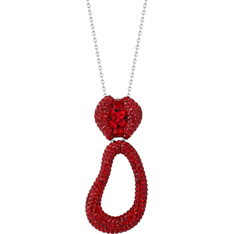 Tigris 鏈墜, 紅色, 鍍鈀色 - Swarovski, 5512350