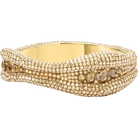 Tigris Bangle, Brown, Gold-tone plated - Swarovski, 5512354