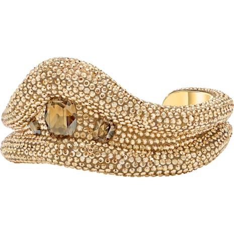 Tigris Cuff, Brown, Gold-tone plated - Swarovski, 5512357