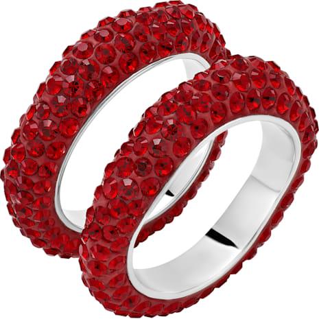 Tigris 疊戴介指, 紅色, 鍍鈀色 - Swarovski, 5512358