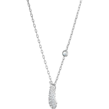 Collier Naughty, blanc, Métal rhodié - Swarovski, 5512365