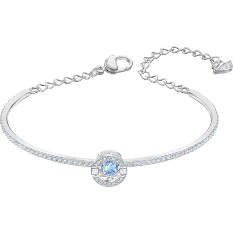 Swarovski Sparkling Dance 手鐲, 藍色, 鍍白金色 - Swarovski, 5515385