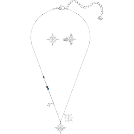 Swarovski Symbolic Star Set, White, Rhodium plated - Swarovski, 5517182