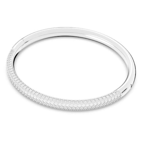 Stone Bangle, White, Rhodium plated - Swarovski, 5032845
