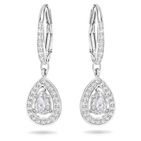 UK Verfügbarkeit großer Rabatt große Auswahl an Farben und Designs Attract Pearl Ohrringe, weiss, Rhodiniert