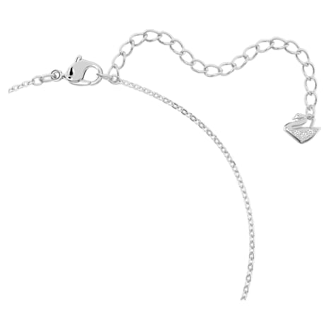 Creativity Circle Pendant, White, Rhodium plated - Swarovski, 5198686