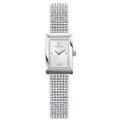 Memories Watch, Crystal Mesh strap, White, Stainless steel - Swarovski, 5209187