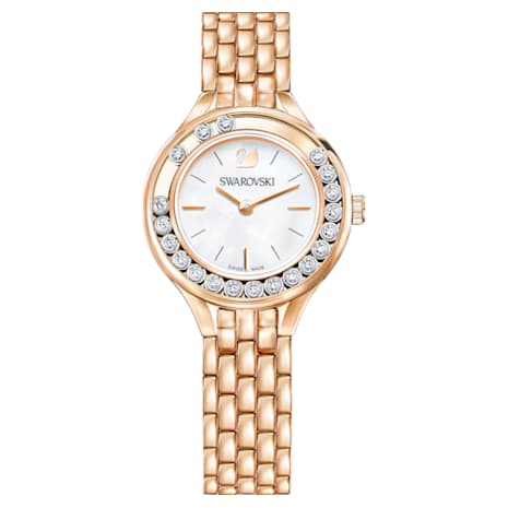 Lovely Crystals Watch, Metal bracelet, Rose-gold tone PVD - Swarovski, 5261496