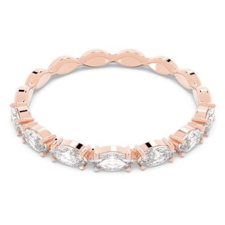 Vittore Marquise Ring, White, Rose-gold tone plated - Swarovski, 5351769