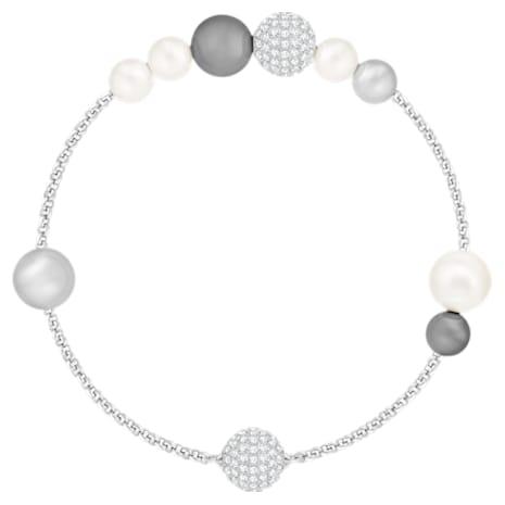 Swarovski Remix Collection Pearl Strand, gris, Baño de Rodio - Swarovski, 5365739