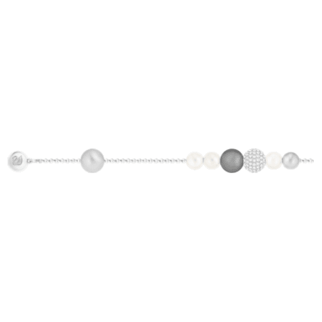 Swarovski Remix Collection Pearl Strand, Gray, Rhodium plated - Swarovski, 5365739