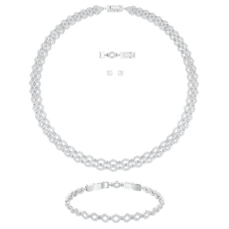 Lace Set, White, Rhodium plated - Swarovski, 5371383