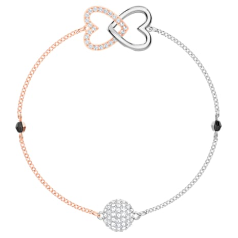 Swarovski Remix Collection Forever Strand, blanc, Finition mix de métal - Swarovski, 5375199