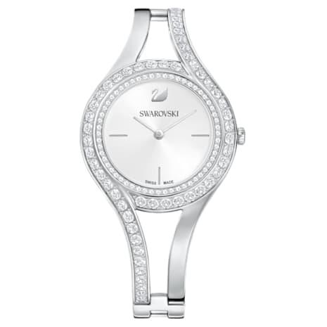 Eternal Watch, Metal bracelet, White, Stainless steel - Swarovski, 5377545