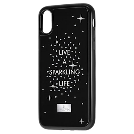 History Smartphone Case with integrated Bumper, iPhone® X/XS, Black - Swarovski, 5391994