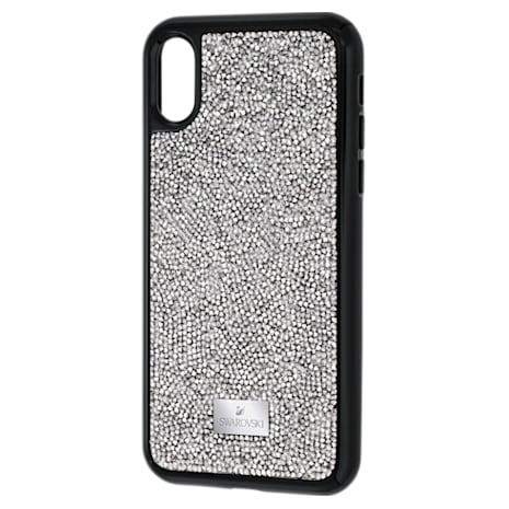 Glam Rock Koruyucu entegre edilmiş Akıllı Telefon Kılıfı, iPhone® X/XS, Gri - Swarovski, 5392053