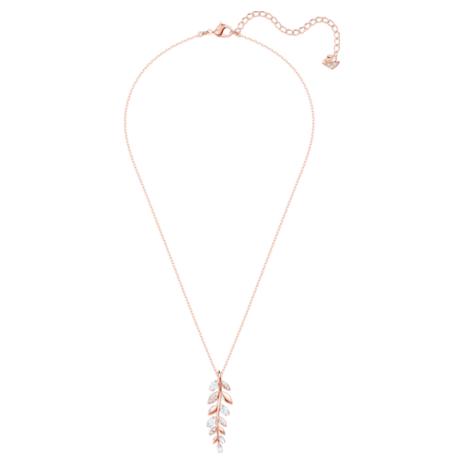 Mayfly Pendant, White, Rose-gold tone plated - Swarovski, 5409340