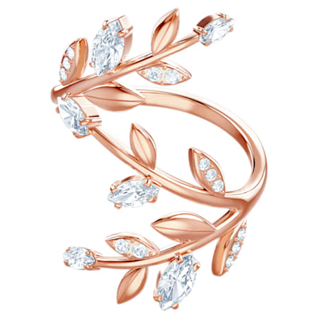 Mayfly Ring, White, Rose-gold tone plated - Swarovski, 5409356