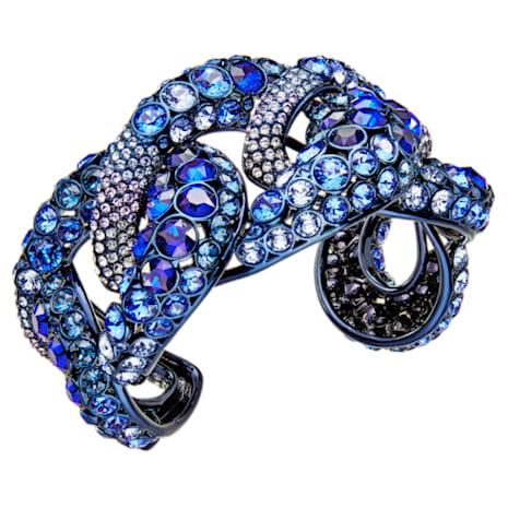 Tabloid Armreif, mehrfarbig, Blaues PVD-Finish - Swarovski, 5410999