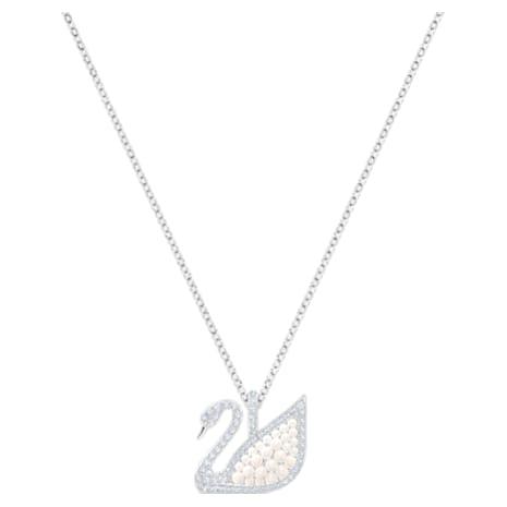 Pendentif Swarovski Iconic Swan, blanc, Métal rhodié - Swarovski, 5411791