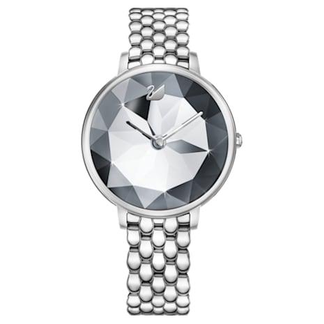 Crystal Lake Watch, Metal bracelet, White, Stainless steel - Swarovski, 5416017