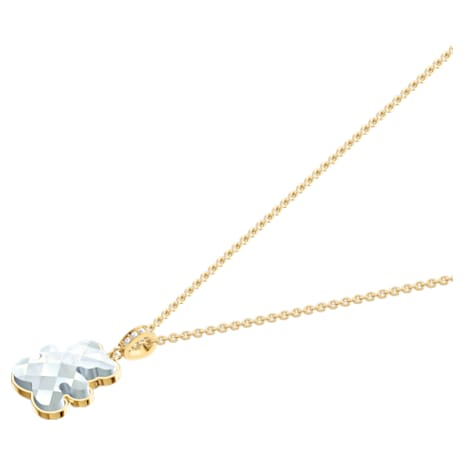 Teddy Pendant, White, Gold-tone plated - Swarovski, 5418715