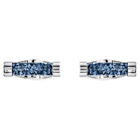 Crystaldust Cuff Links, Blue, Stainless steel - Swarovski, 5427116
