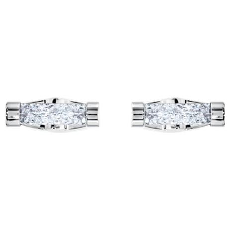 Crystaldust Kol Düğmesi, Beyaz, Paslanmaz çelik - Swarovski, 5429896