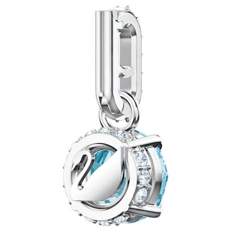 Swarovski Remix Collection Charm, March, Aqua, Rhodium plated - Swarovski, 5435642