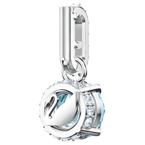 Swarovski Remix Collection Charm, December, Blue, Rhodium plated - Swarovski, 5437316
