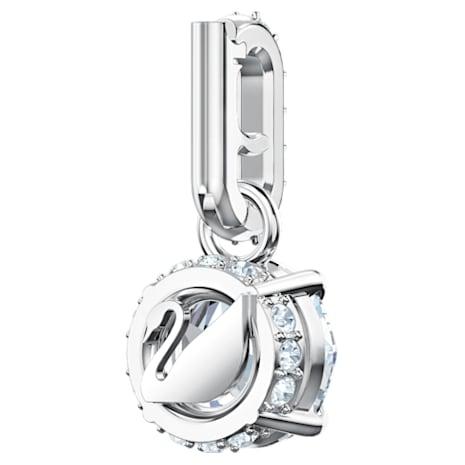 Swarovski Remix Collection Charm, April, White, Rhodium plated - Swarovski, 5437320
