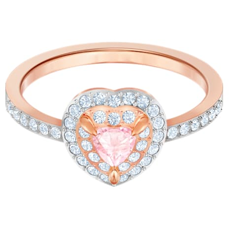Anello One, multicolore, Placcato oro rosa - Swarovski, 5439315