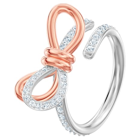 Bague Lifelong Bow, blanc, Finition mix de métal - Swarovski, 5440641