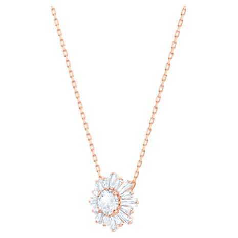 Sunshine Pendant, White, Rose-gold tone plated - Swarovski, 5451376