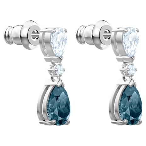 Boucles d'oreilles Vintage, bleu, Métal rhodié - Swarovski, 5452579