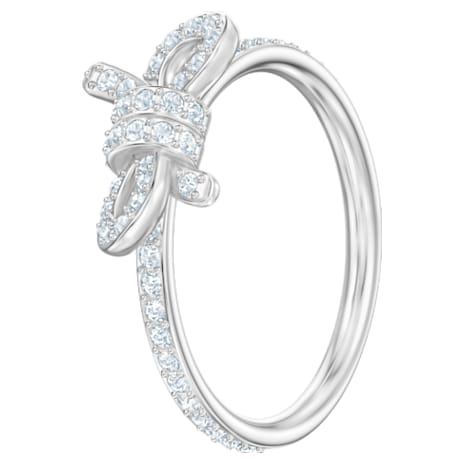 Lifelong Ring, Small, White, Rhodium plated - Swarovski, 5457269