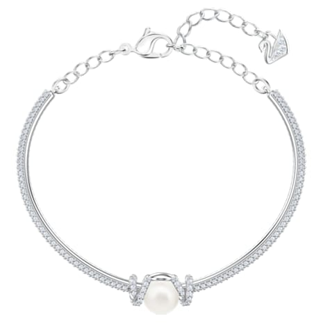 Originally Bangle, White, Rhodium plated - Swarovski, 5461083