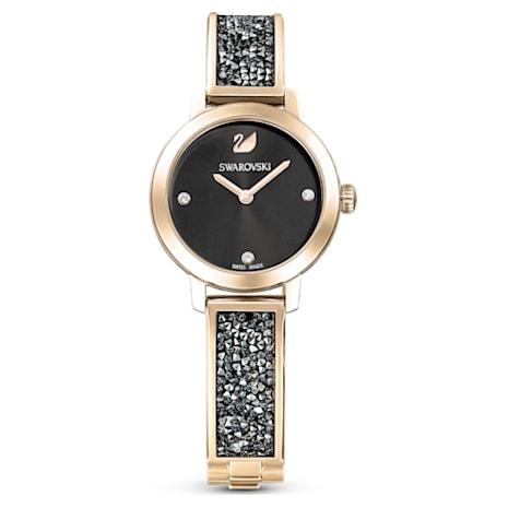 Cosmic Rock Watch, Metal bracelet, Gray, Champagne-gold tone PVD - Swarovski, 5466205
