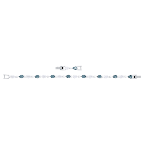 Pulsera Vintage, azul, Baño de Rodio - Swarovski, 5466882