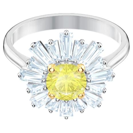 Bague Sunshine, jaune, Métal rhodié - Swarovski, 5472481