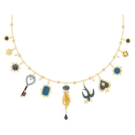 Tarot Magic Necklace, Multi-colored, Gold-tone plated - Swarovski, 5482976