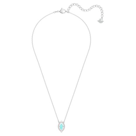 Swarovski Sparkling Dance Necklace, Green, Rhodium plated - Swarovski, 5485721