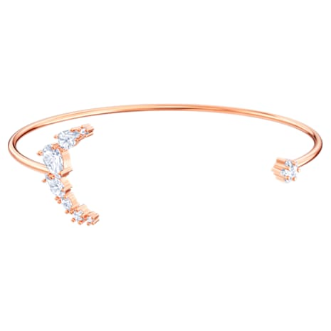 Penélope Cruz Moonsun Cuff, White, Rose-gold tone plated - Swarovski, 5486353