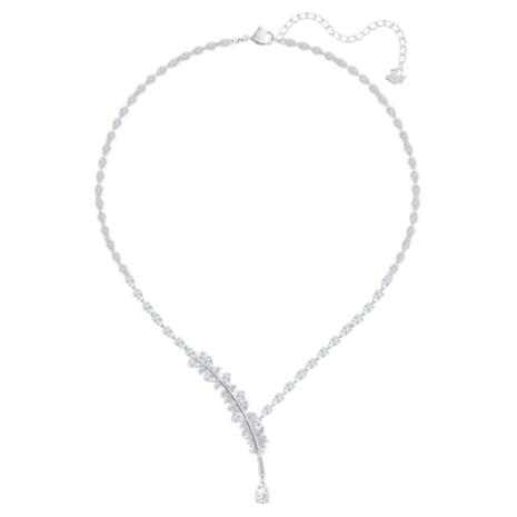 Nice Halskette, weiss, Rhodiniert - Swarovski, 5493401