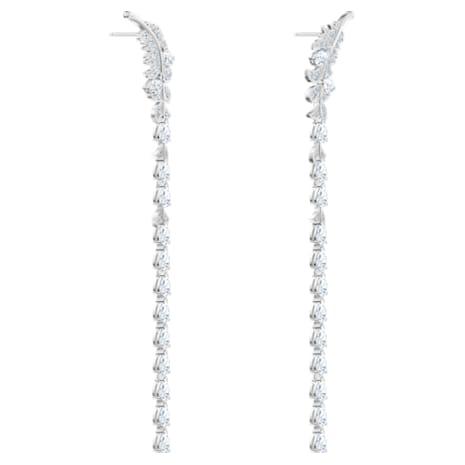 Nice Серьги, Белый Кристалл, Родиевое покрытие - Swarovski, 5493406